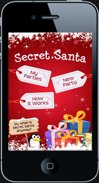 Secret Santa iPhone App Website