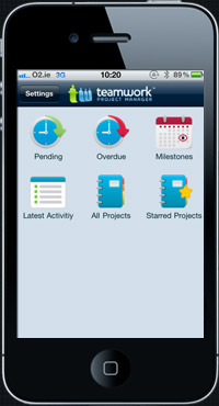 TeamworkPM iPhone App Website